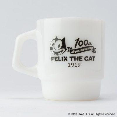 Fire-King スタッキングマグ FELIX THE CAT [100th LOGO]