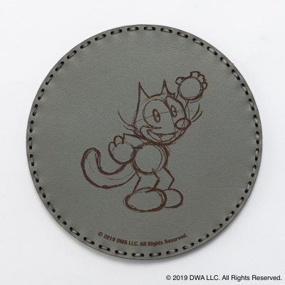 OJAGA DESIGN レザーコースター FELIX THE CAT [Classic Sketch] グレー