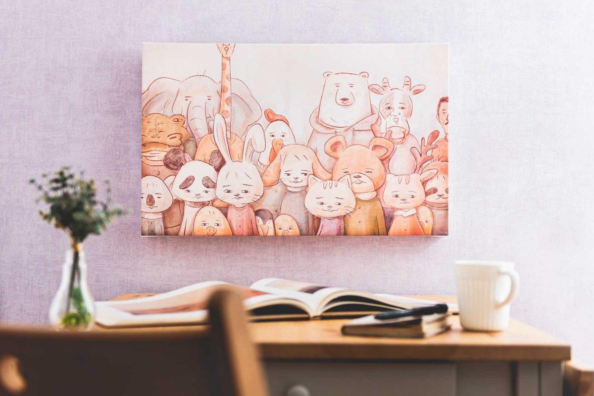 「keigo」描きおろしアートによるインテリア「ファブリックパネル」が登場!