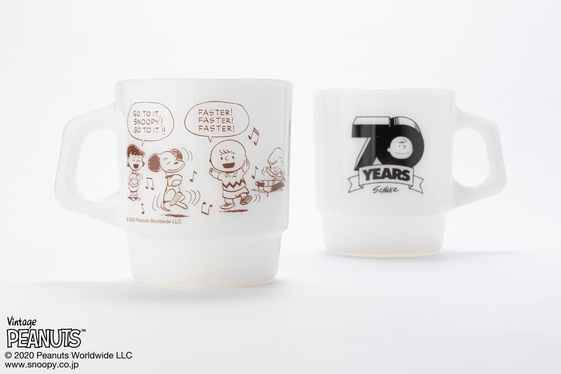 Fire-King スタッキングマグ Peanuts [70 YEARS]